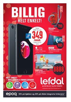 Tilbud på Elektronikk og hvitevarer i Lefdal-katalogen i Sandvika