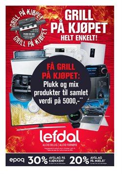 Tilbud på Elektronikk og hvitevarer i Lefdal-katalogen i Fredrikstad