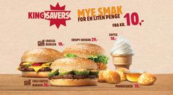Tilbud fra Burger King i Oslo-brosjyren