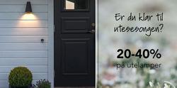 Tilbud fra Christiania Belysning i Haugesund-brosjyren