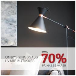 Tilbud fra Lampehuset i Oslo-brosjyren