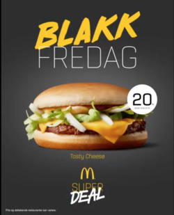 Tilbud fra McDonald's i Oslo-brosjyren
