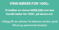 Tilbud fra Tanum i Oslo-brosjyren