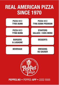 Peppes Pizza-katalog ( Mer enn 30 dager )