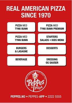 Tilbud fra Restauranter og caféer i Peppes Pizza-brosjyren ( Mer enn 30 dager)