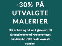 Tilbud fra Kremmerhuset i Oslo-brosjyren