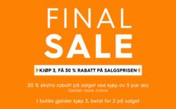 Tilbud fra Din Sko i Trondheim-brosjyren