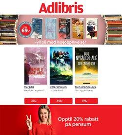 Tilbud fra Bøker og kontor i Adlibris-brosjyren ( 4 dager igjen)