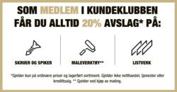 Tilbud fra XL-Bygg i Oslo-brosjyren