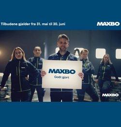 Tilbud fra Bygg og hage i Maxbo-brosjyren ( Publisert i dag)