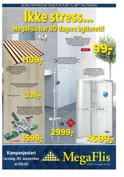Tilbud fra Megaflis i Megaflis-brosjyren ( Publisert i dag)