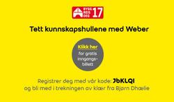 Tilbud fra Weber i Oslo-brosjyren