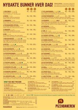 Tilbud fra Restauranter og caféer i Pizzabakeren-brosjyren ( Mer enn 30 dager )