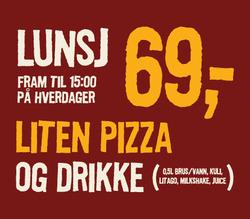 Tilbud fra Pizzabakeren i Oslo-brosjyren