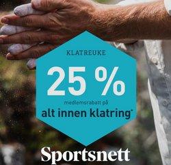 Tilbud fra Sportsnett i Sportsnett-brosjyren ( 8 dager igjen)