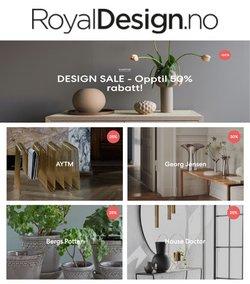 Tilbud fra RoyalDesign i RoyalDesign-brosjyren ( 14 dager igjen)