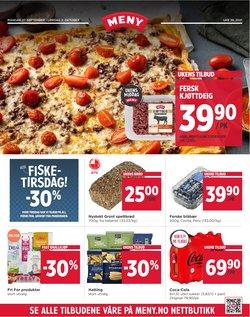 Tilbud fra Supermarkeder i Meny-brosjyren ( Publisert i dag)