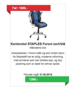 Tilbud fra Staples i Oslo-brosjyren