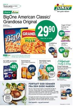 Tilbud fra Supermarkeder i Joker-brosjyren ( Publisert i dag)