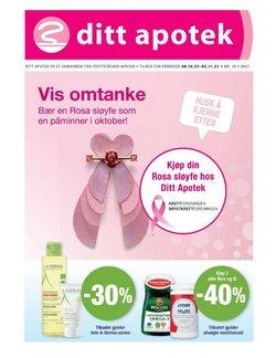 Tilbud fra Ditt apotek i Ditt apotek-brosjyren ( 10 dager igjen)