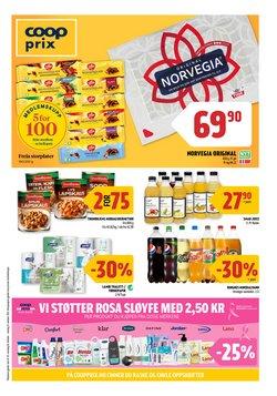 Tilbud fra Supermarkeder i Coop Prix-brosjyren ( 8 dager igjen)