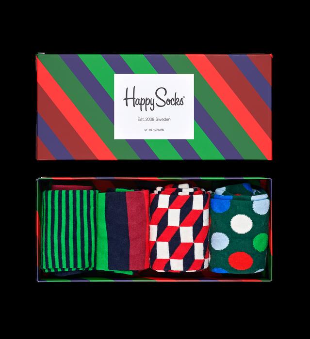 Tilbud: Stripe Gift Box 4-Pack 349 PK