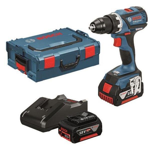 Tilbud: Drill gsr 18v-ec 2x5ah gal1840cv l- boxx 3490 PK