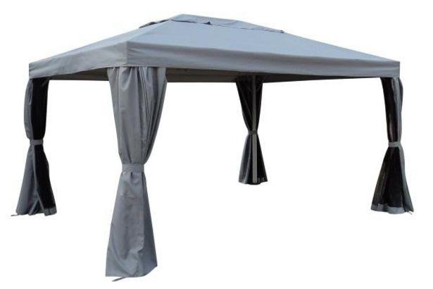 Tilbud: Paviljong Karthago grå 3x4m lys grå ramme 5490 PK