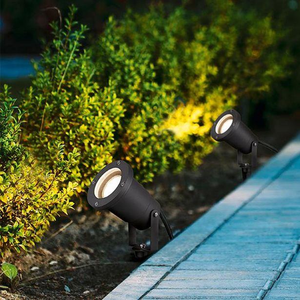 Tilbud: Ubangi hagebelysning spotlight TRIO Grå 1 lys 559 PK