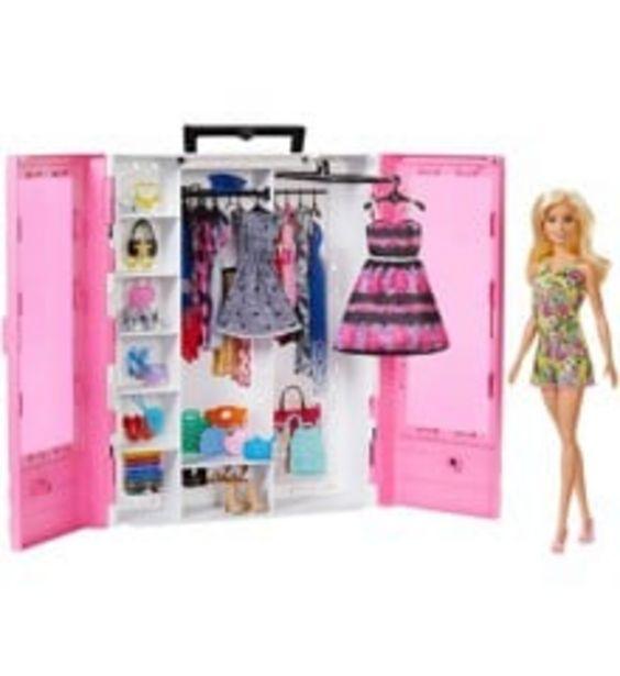 Tilbud: Barbie - Barbie Fashionistas Ultimate Closet Doll and Accessory(GBK12) 349 PK