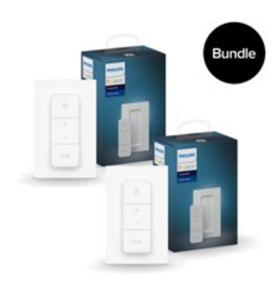 Tilbud: Philips Hue - 2x New Dimmer Switch  Bundle 415 PK