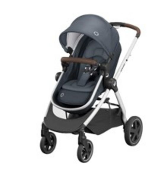 Tilbud: Maxi-Cosi - Zelia2 Strollers - Essential Graphite (Dark Grey Frame + Black Leather) 2799 PK