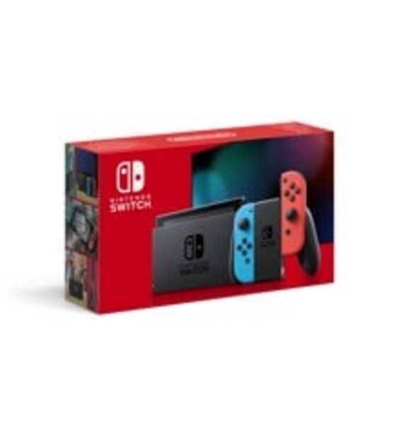 Tilbud: Nintendo Switch Console with Neon Red & Neon Blue Joy-Con (Upgraded Version) 3099 PK