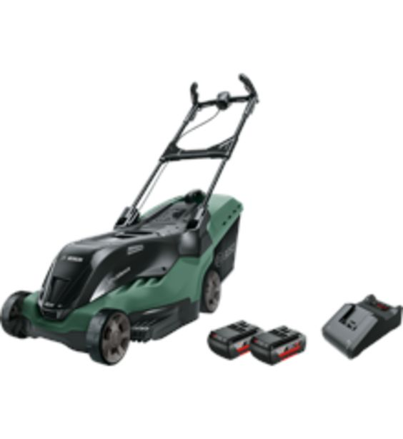 Tilbud: Bosch - Cordless lawnmower AdvancedRotak 36-660 (2x Battery and a charger is included) 6195 PK