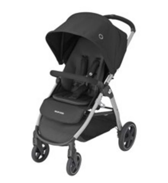 Tilbud: Maxi-Cosi - Strollers Gia - Essential Black(Grey Alu Frame + Black Leather) 2449 PK