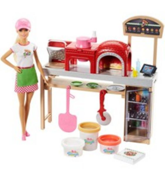 Tilbud: Barbie - Pizza Chef Doll and Playset (FHR09) 406 PK
