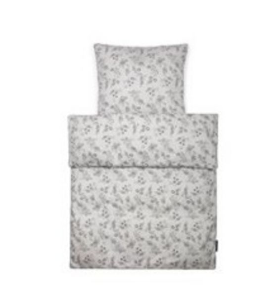 Tilbud: Smallstuff - Bedding Junior - Grey Flower Garden 479 PK