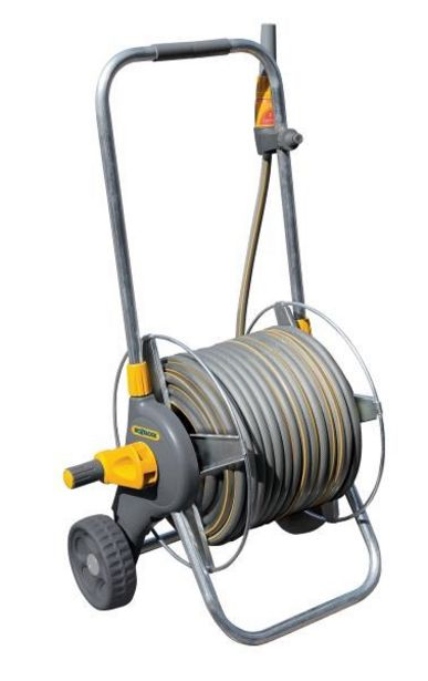 Tilbud: Hozelock Slangetrommel M/Hjul - 30 m 12,5 mm Slange 1399 PK