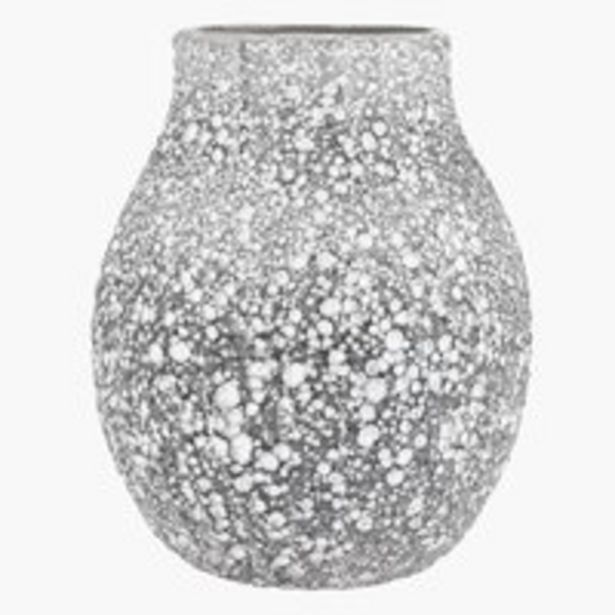 Tilbud: Vase MATHIAS Ø21xH25cm grå 169 PK