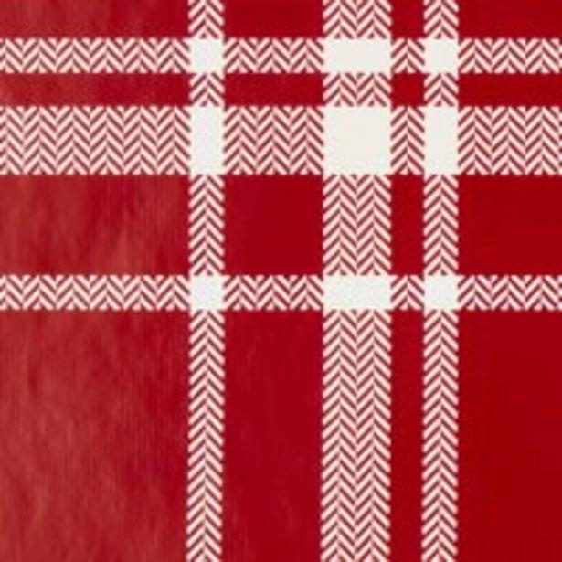 Tilbud: Voksduk DAG 140cm rød/offwhite 79,95 PK
