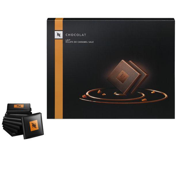 Tilbud: Melkesjokolade med salte karamellbiter 75 PK