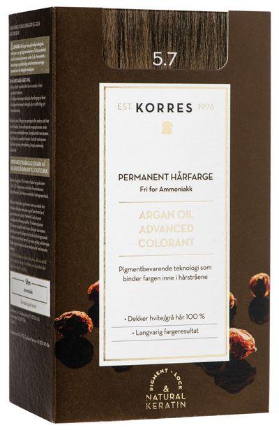 Tilbud: KORRES ARGAN OIL ADVANCED COLORANT CHOCOLATE 5.7 199 PK