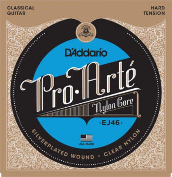 Tilbud: D'Addario EJ46 Pro-Arte Nylon Classical Guitar Strings, Hard Tension 150 PK
